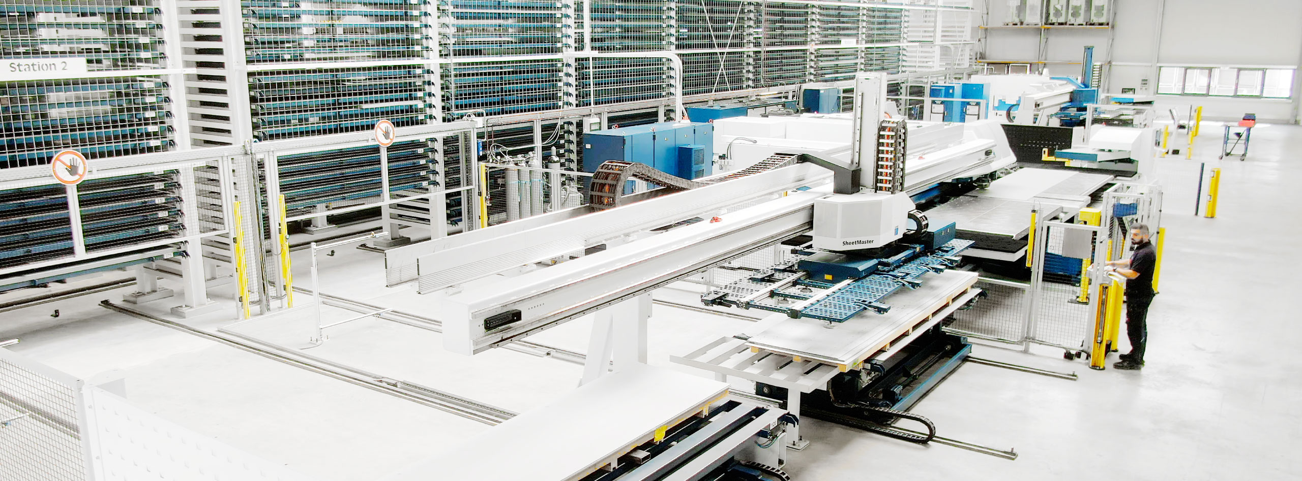 Shot of a production hall